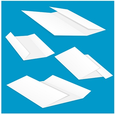 sheets of folded paper