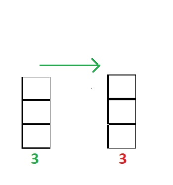 two columns of 3 squares