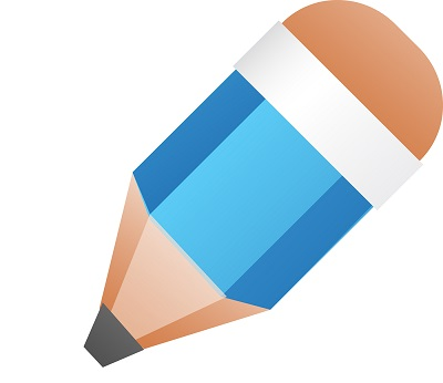 illustration of blue pencil