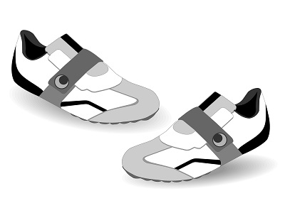 illustration of pair of gray sneakers